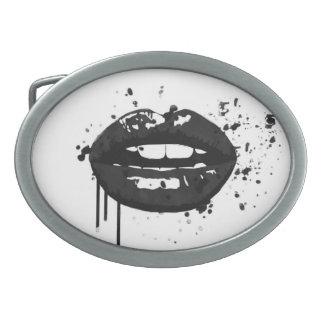 Maquilhador à moda do beijo da forma dos lábios