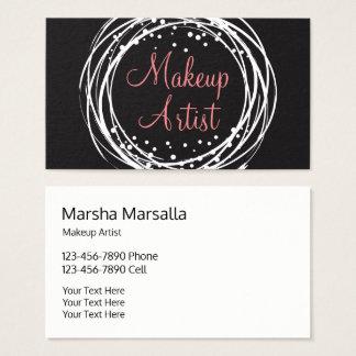 Maquilhador à moda poderoso cartão de visitas