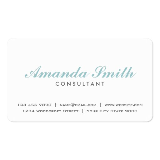 Maquilhador branco liso profissional elegante modelos cartões de visita