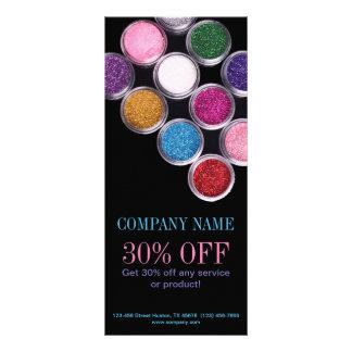 maquilhador colorido do salão de beleza dos TERMAS 10.16 X 22.86cm Panfleto
