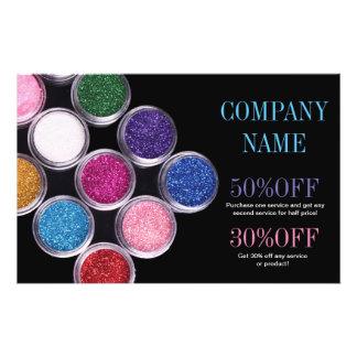 maquilhador colorido do salão de beleza dos TERMAS Panfleto Personalizados