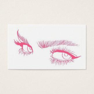 Maquilhador dos olhos cartão de visitas