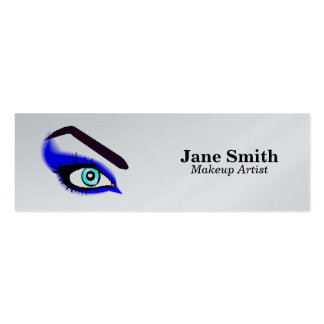 Maquilhador enceramento da sobrancelha cartão de visita