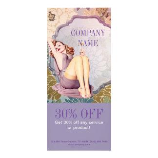 maquilhador feminino da beleza roxa chique do 10.16 x 22.86cm panfleto