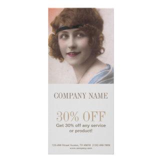 maquilhador gatsby do cabeleireiro da beleza dos 10.16 x 22.86cm panfleto