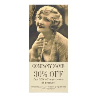 maquilhador gatsby do cabelo do salão de beleza 10.16 x 22.86cm panfleto