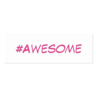 Maquilhador Hashtag cor-de-rosa simples mini Cartão De Visita Skinny