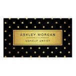 Maquilhador - pontos pretos do ouro branco modelo de cartões de visita