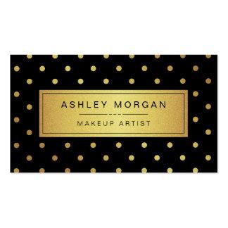 Maquilhador - pontos pretos do ouro branco cartão de visita
