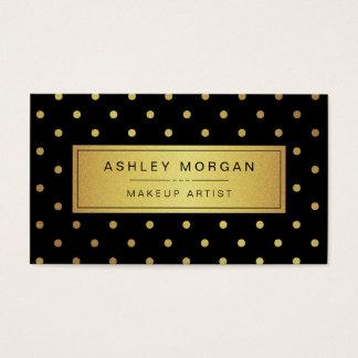 Maquilhador - pontos pretos do ouro branco cartão de visitas