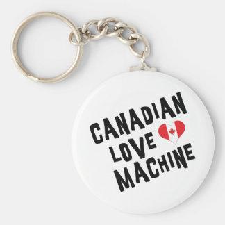 Máquina canadense do amor chaveiro