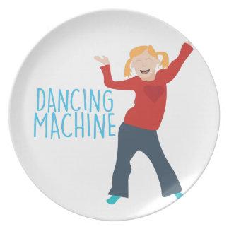 Máquina da dança louça de jantar