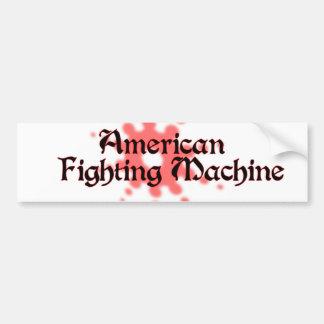 Máquina de combate americana adesivo