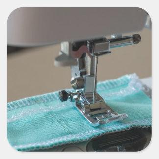 Máquina de costura adesivo quadrado