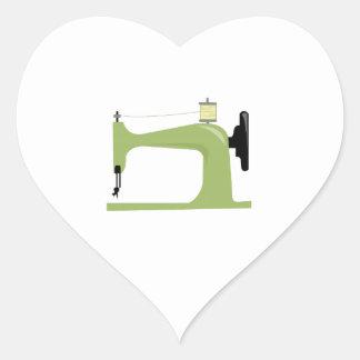 Máquina de costura adesivo em forma de coração