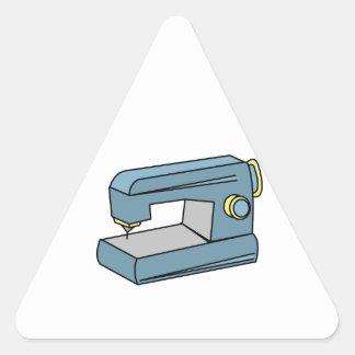Máquina de costura adesivo em forma de triângulo