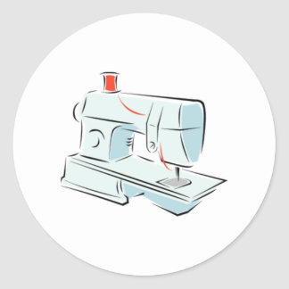Máquina de costura adesivos em formato redondos