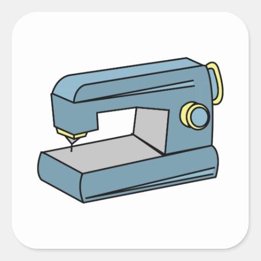 Máquina de costura adesivo em forma quadrada