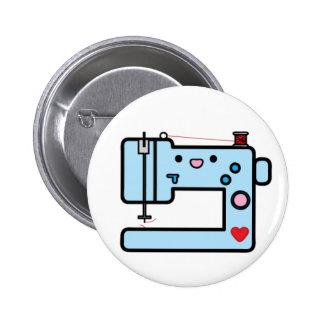 máquina de costura azul botons