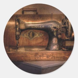 Máquina de costura - cantor adesivo redondo