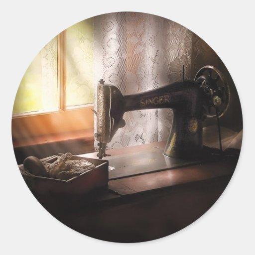 Máquina de costura - cantor II Adesivo Em Formato Redondo