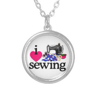Máquina de costura colar com pendente redondo