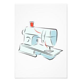 Máquina de costura convites personalizado