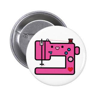 máquina de costura cor-de-rosa bóton redondo 5.08cm