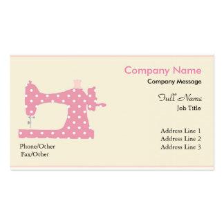 Máquina de costura cor-de-rosa moderna elegante cartão de visita