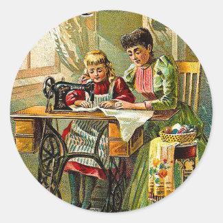 "Máquina de costura do cantor ""vintage da primeira adesivo"