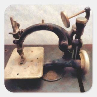 Máquina de costura do Victorian Adesivos Quadrados