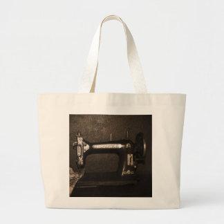 Máquina de costura do vintage bolsa para compras