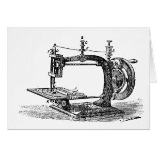 Máquina de costura do vintage, cartão