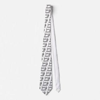 Máquina de costura do vintage gravata