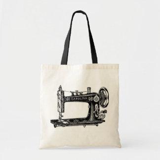 Máquina de costura do vintage sacola tote budget