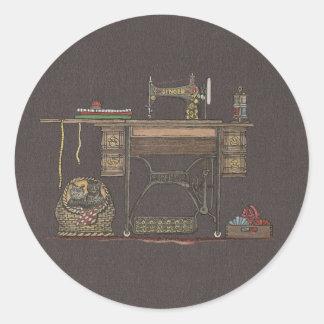 Máquina de costura & gatinhos do Treadle Adesivo
