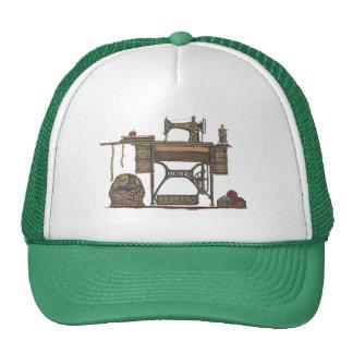 Máquina de costura & gatinhos do Treadle Bone