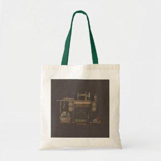Máquina de costura & gatinhos do Treadle Sacola Tote Budget