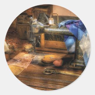 Máquina de costura - máquina de costura III Adesivos Redondos