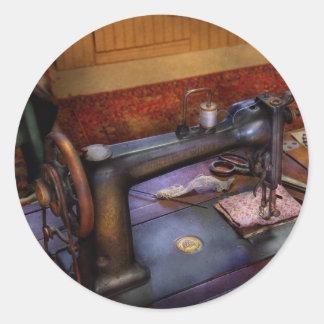 Máquina de costura - projeto Sewing Adesivos Redondos