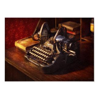 Máquina de dactilografia de Steampunk - de Oliver Convite 12.7 X 17.78cm