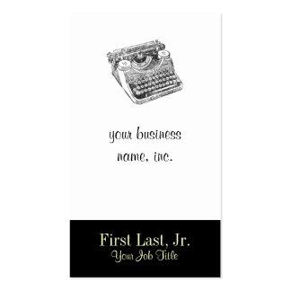 Máquina de escrever afligida Underwood do vintage Cartão De Visita