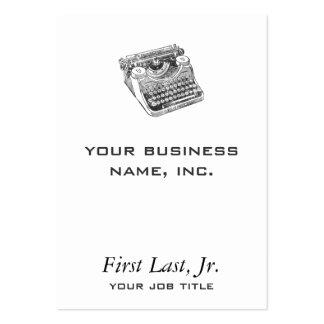 Máquina de escrever afligida Underwood do vintage Cartão De Visita Grande