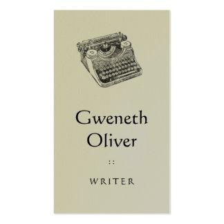 Máquina de escrever afligida Underwood do vintage Cartao De Visita