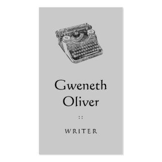 Máquina de escrever afligida Underwood do vintage Modelos Cartao De Visita