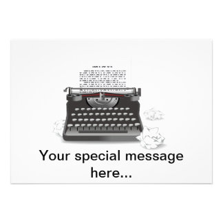 Máquina de escrever antiga convites