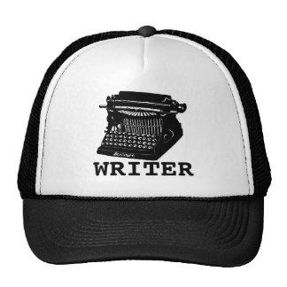 Máquina de escrever antiga do escritor boné
