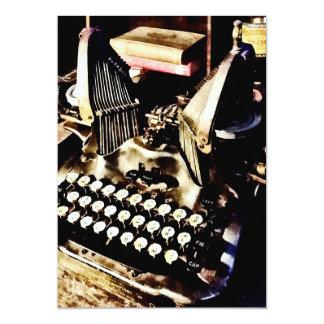 Máquina de escrever antiga Oliver #9 Convite 12.7 X 17.78cm