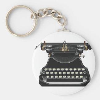 Máquina de escrever antiga chaveiro