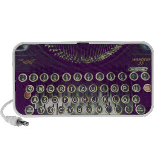 máquina de escrever antiquado caixinhas de som de viagem